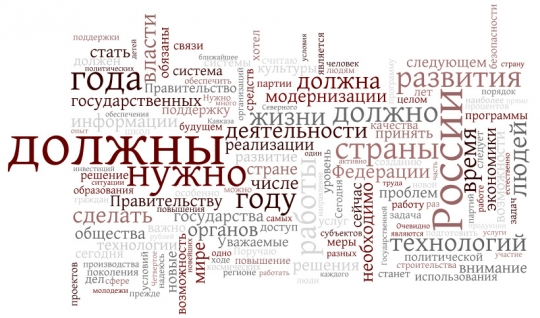 Послание президента Медведева Федеральному собранию 2009