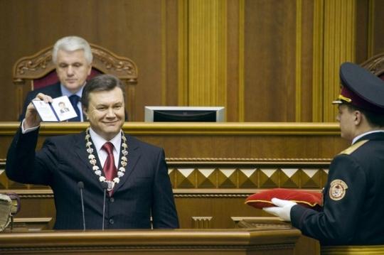 Виктор Янукович на инаугурации